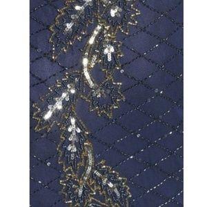 Pisarro Nights Dresses - Pisarro Nights Beaded Flame Motif Cap-Sleeve Gown 157ef551c